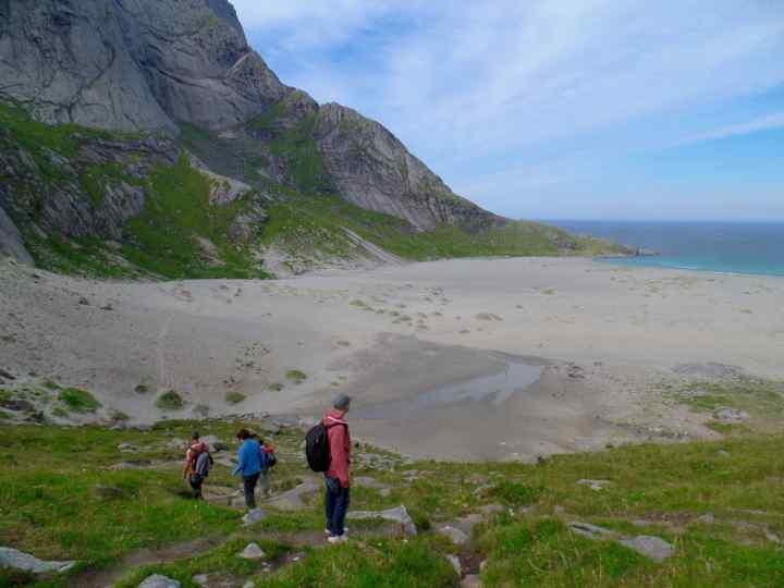La spiaggia di Bunes, Lofoten, Norvegia