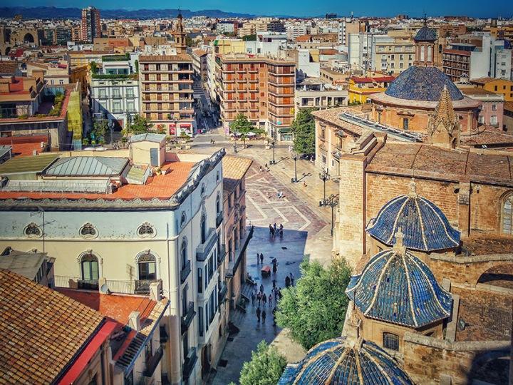 Plaza De la Virgen, vista dalla Torre Micalet